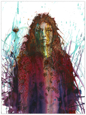 Falling Flowers - Carne Griffiths