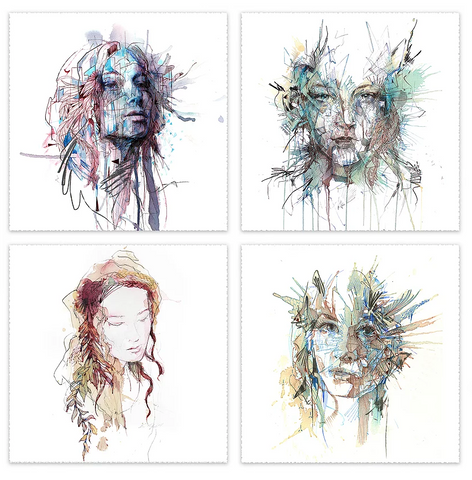 Portrait mini set - Carne Griffiths