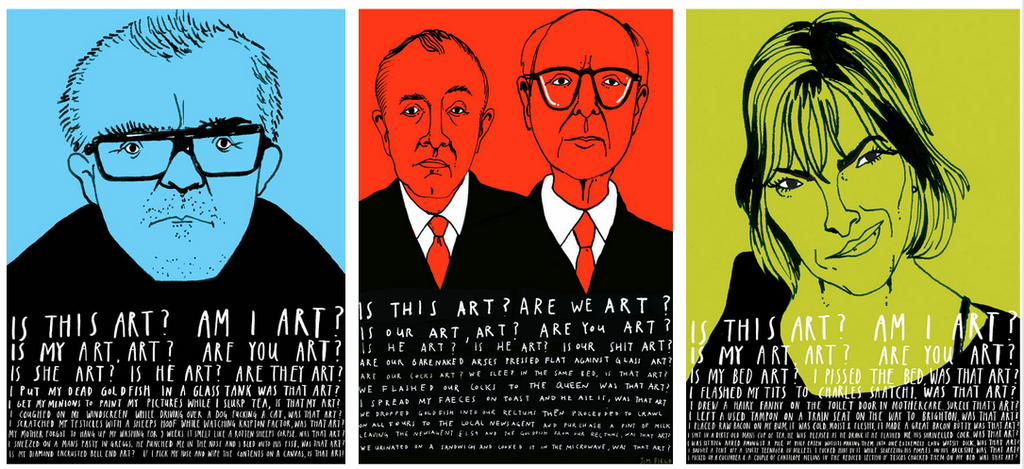 Damien, Gilbert and George, Tracey.