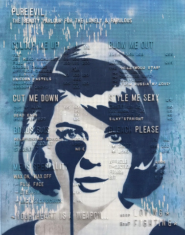 BLUE BEAUTY PARLOUR SIGN - NATALIE WOOD