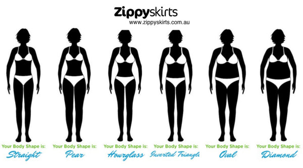 Zippy Skirts Styling Tips -  What Body Shape are you?