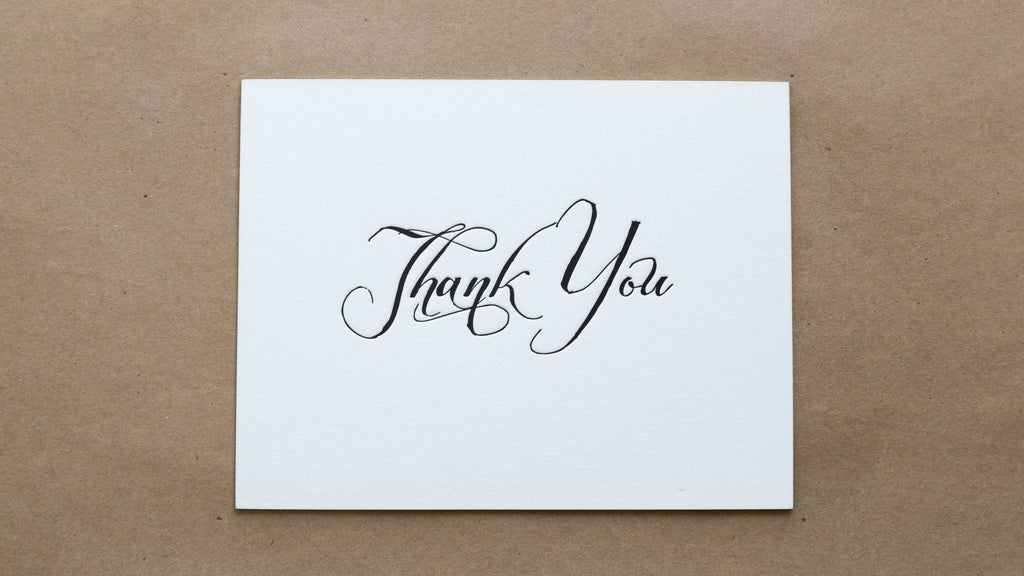"""Thank you"" with Black Envelope"
