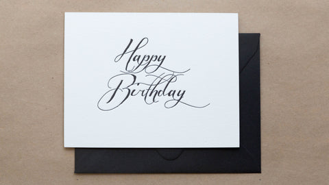 "Handwritten ""Happy Birthday"""