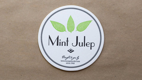 Mint Julep Coasters