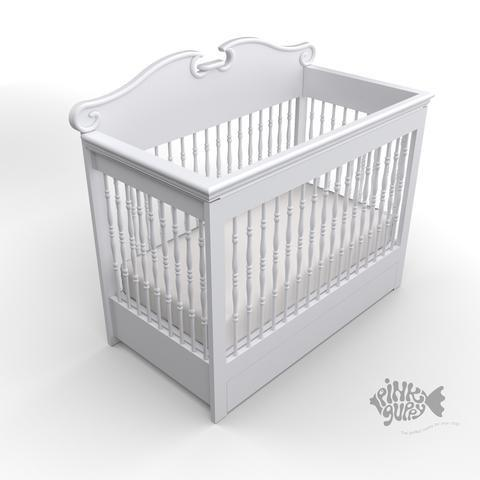Convertible Crib with Spindles & Drawer