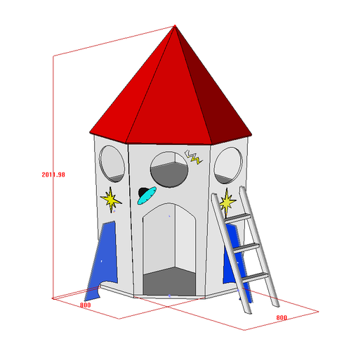 Rocket Home For Kids