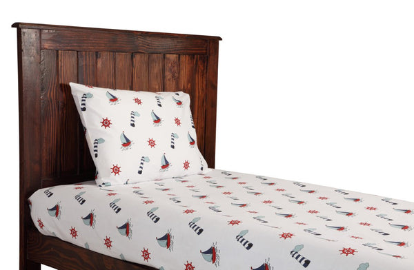 Nautical Theme Bedsheets & Pillow Cover Set