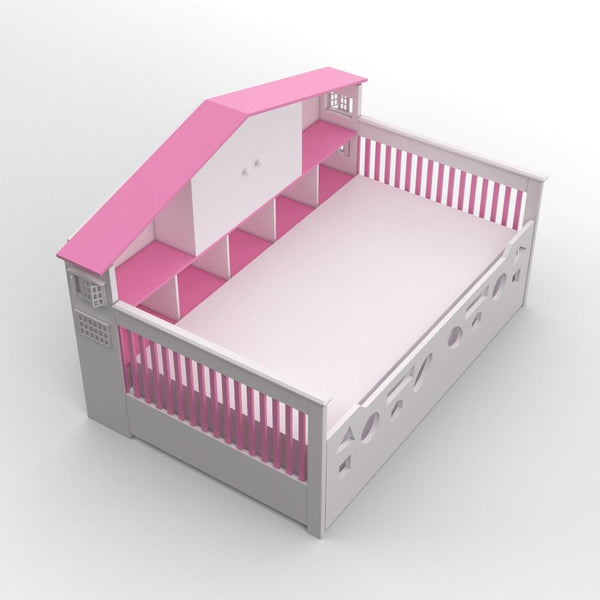Dollhouse Bed with Trundle