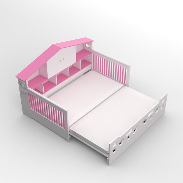 Dollhouse Bed with Trundle - 2