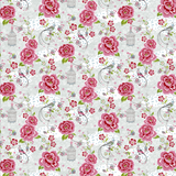 Pink Guppy Kids--Floral w/ Waves Pattern - 5