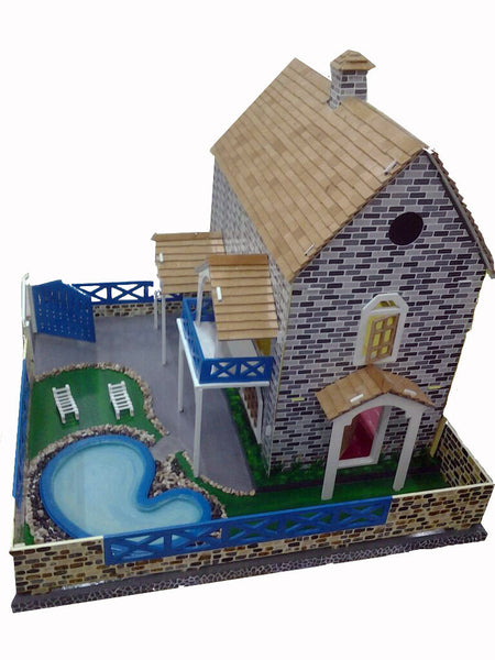 Pink Guppy Kids--Doll house with Pool - 8