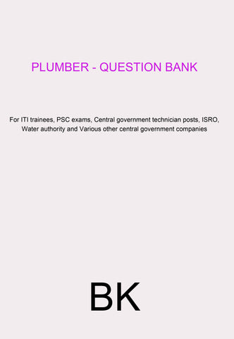 Plumber - Question Bank