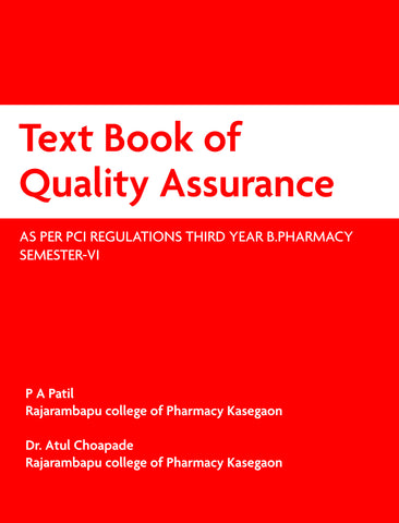 Text Book of Quality Assurance