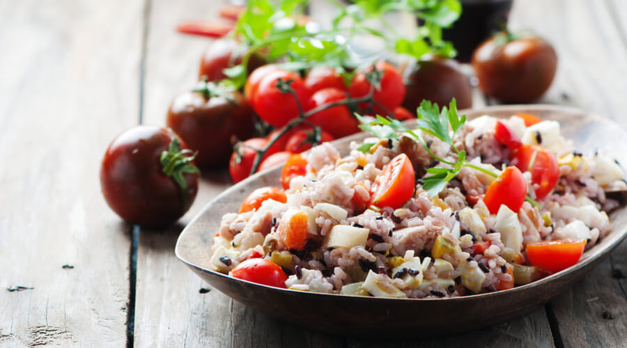 Delicious High Vibration Brown Rice Salad