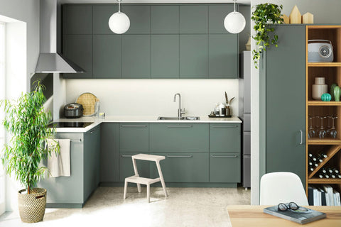 Kitchen color accents-lean on green