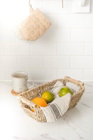 Simple home decor items-seagrass baskets