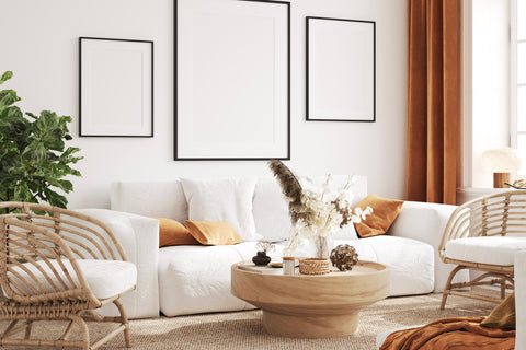 Boho home accents-living room