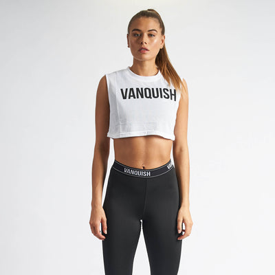 Vanquish Women's White Mesh Crop Top