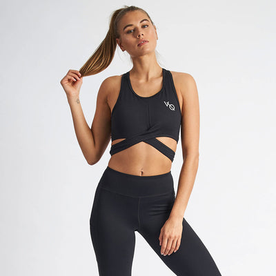 Vanquish Women's Black Crossover Crop Top
