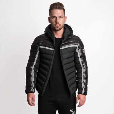 Vanquish Reflective Strip Puffer Jacket