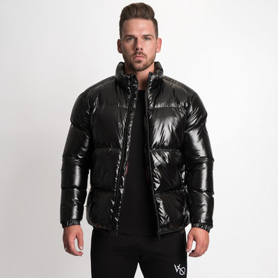 Vanquish Wet Look Black Puffer Jacket