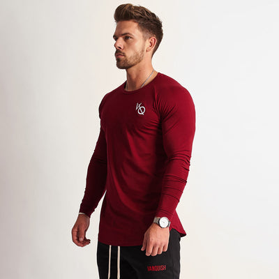 Vanquish Eclipse Burgundy Long Sleeved T Shirt