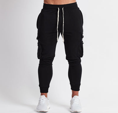 Vanquish Utility Cargo Tapered Black Joggers