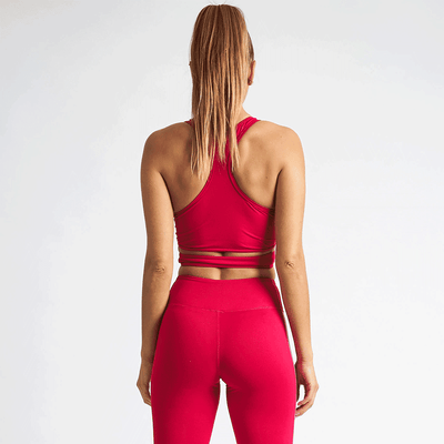 Vanquish Women's Cerise Crossover Crop Top