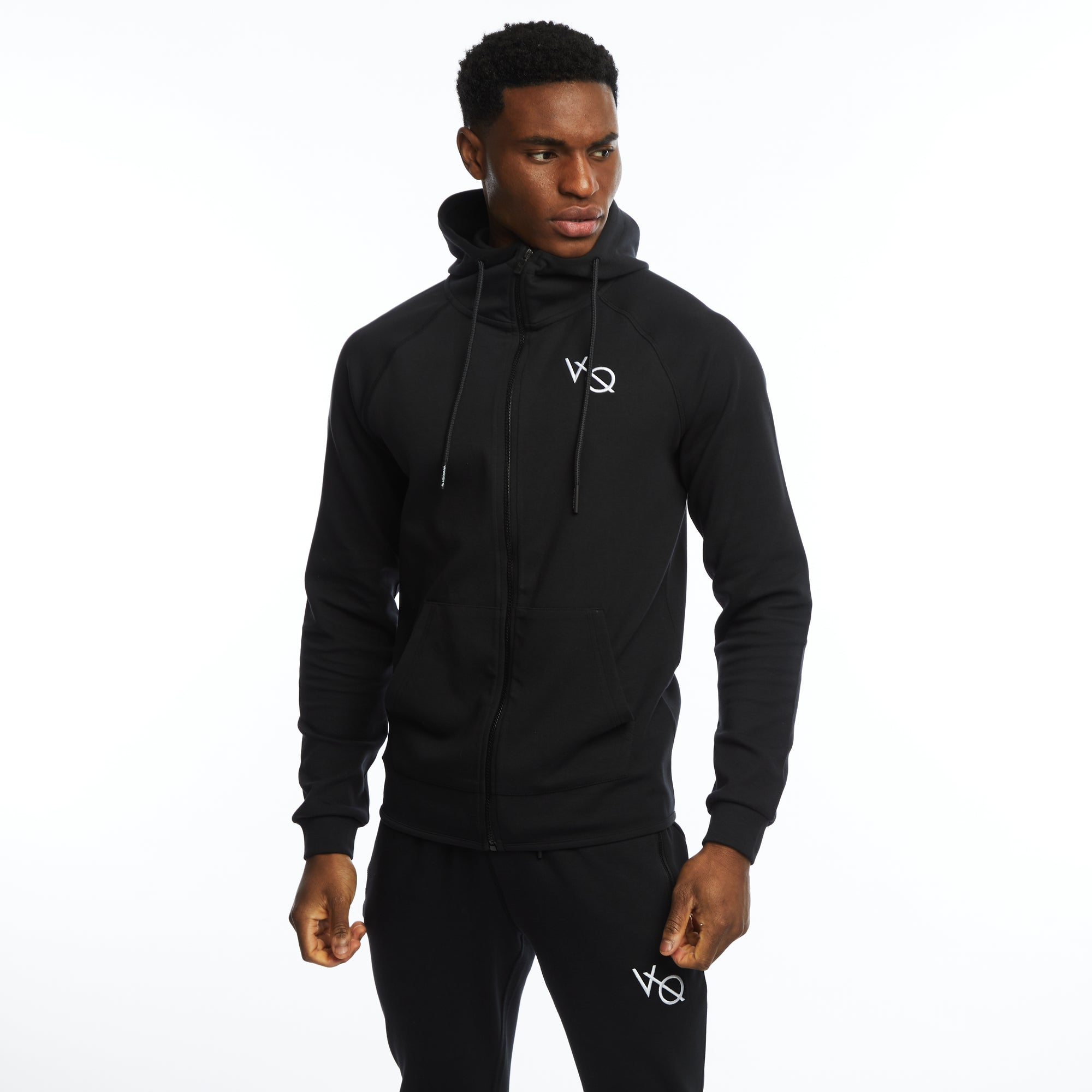 VQFIT Essential Black Full Zip Hoodie