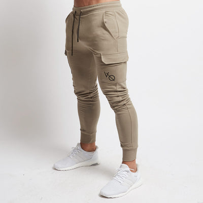 Vanquish Khaki Tapered Cargo Sweatpants