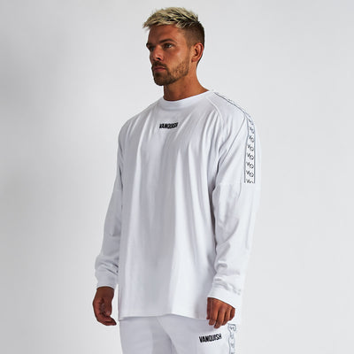 Vanquish LT v2 Men's White Oversized Long Sleeved T-Shirt