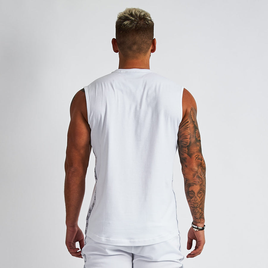 Vanquish LT v2 Men's White Sleeveless T-Shirt