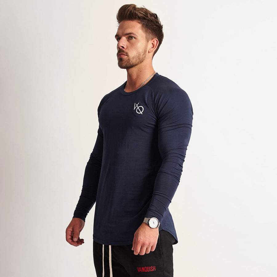 Vanquish Eclipse Navy Long Sleeved T Shirt