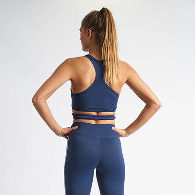 Vanquish Women's Navy Crossover Crop Top