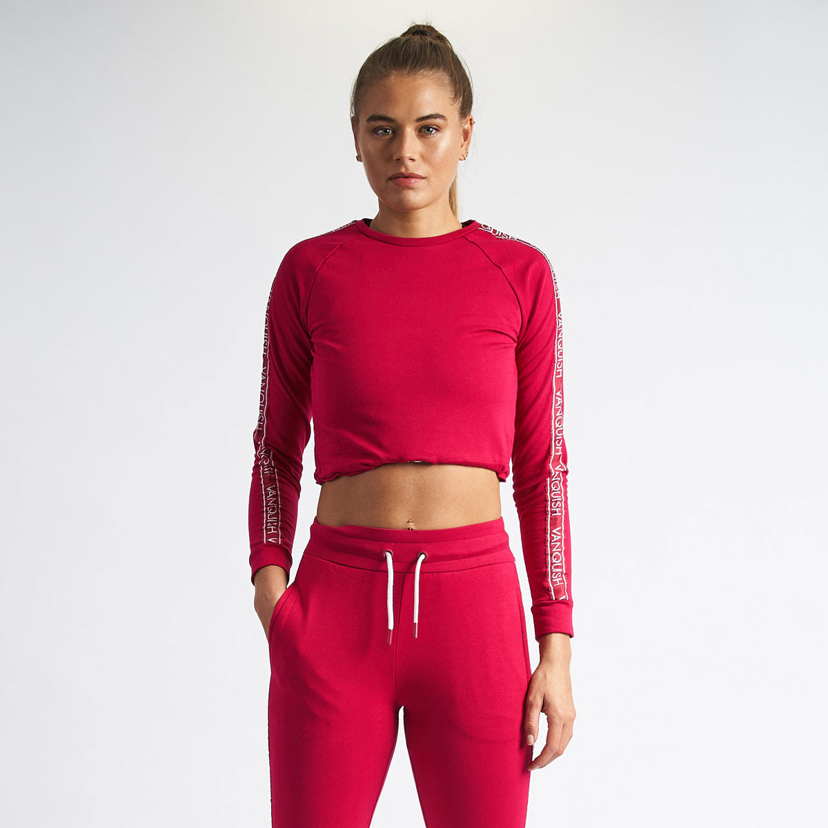 Vanquish Women's Embrace Cerise Cropped Sweater