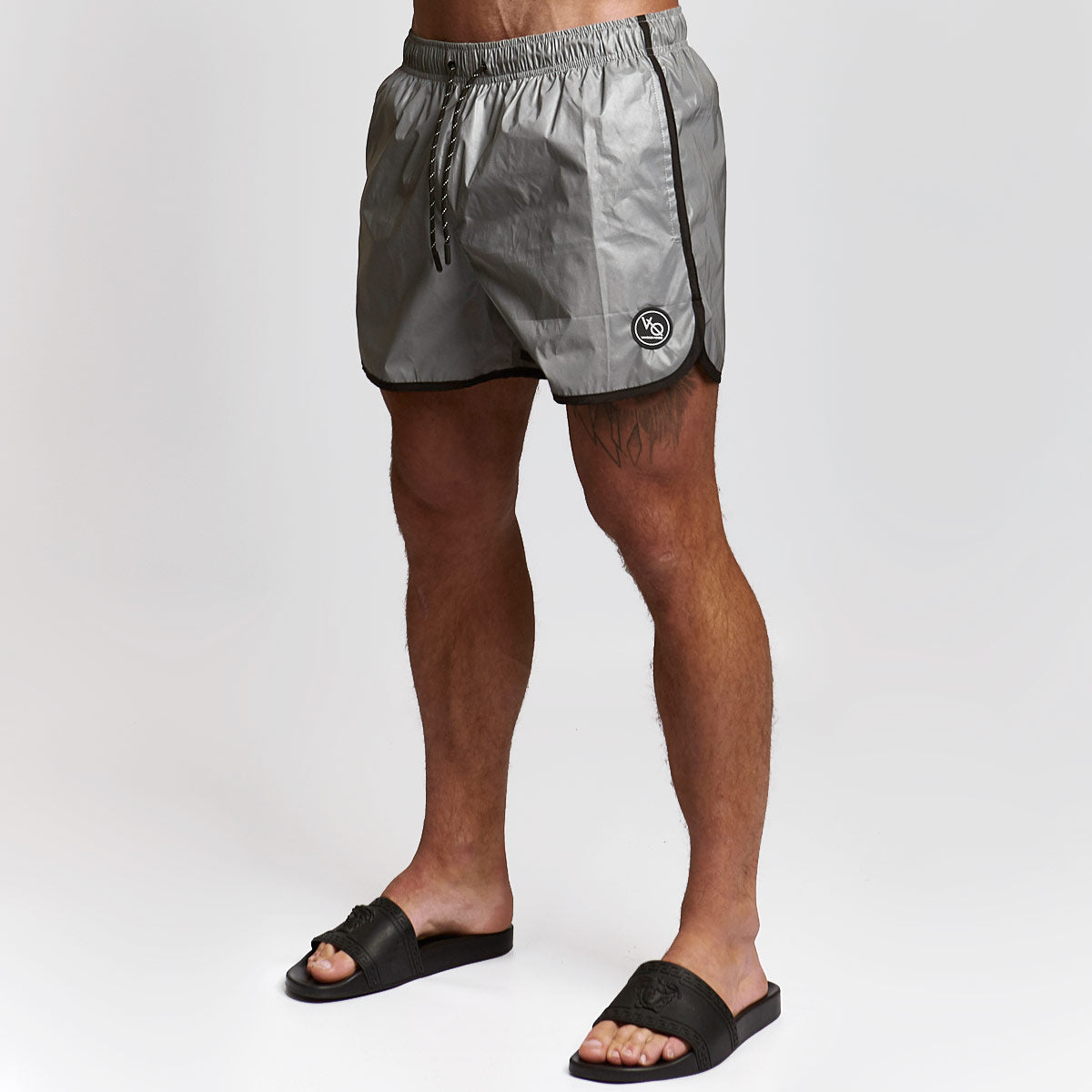 e929ff3d6dad Vanquish Fitness Mens Reflective Athletic Swimming Trunks