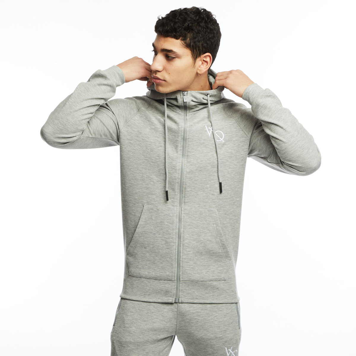 Vanquish Essential Ash Grey Full Zip Hoodie