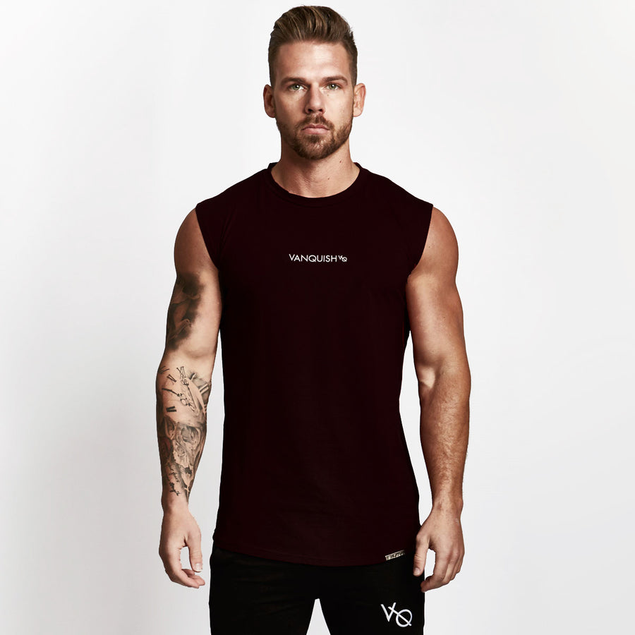 Vanquish Black Minimal Sleeveless T Shirt