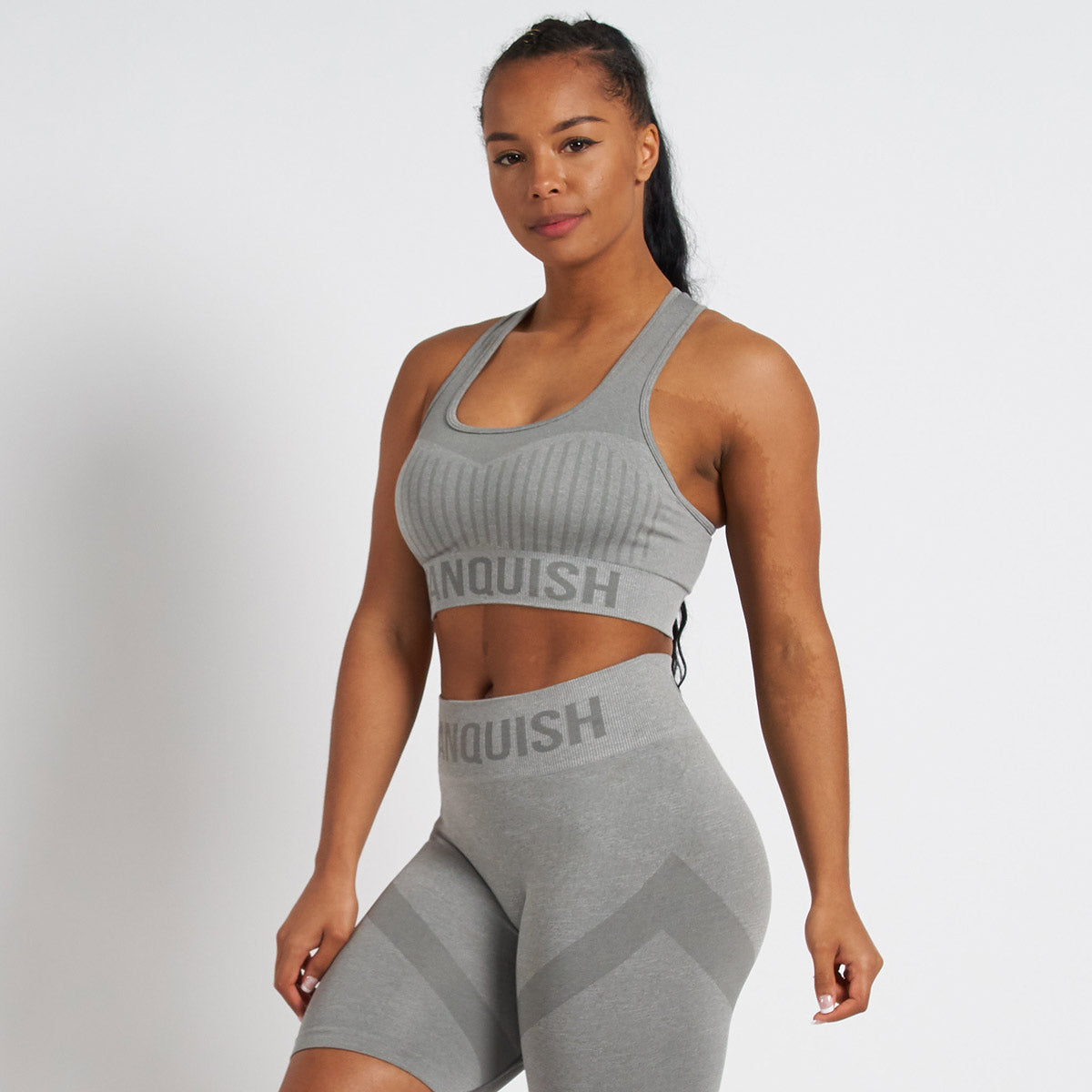 Vanquish Allure Grey Seamless Sports Bra