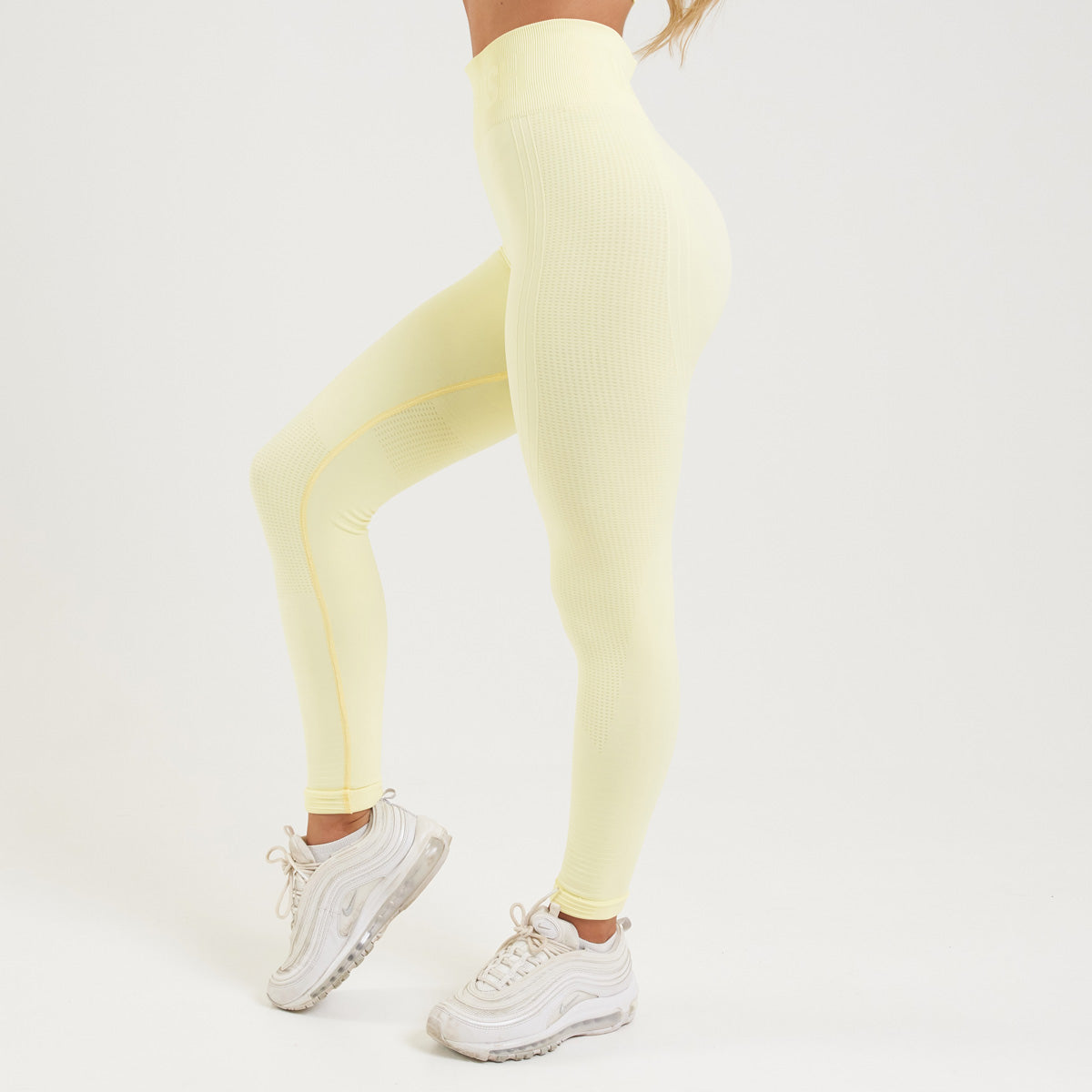 Vanquish Bright Women's Soft Lemon Seamless Leggings
