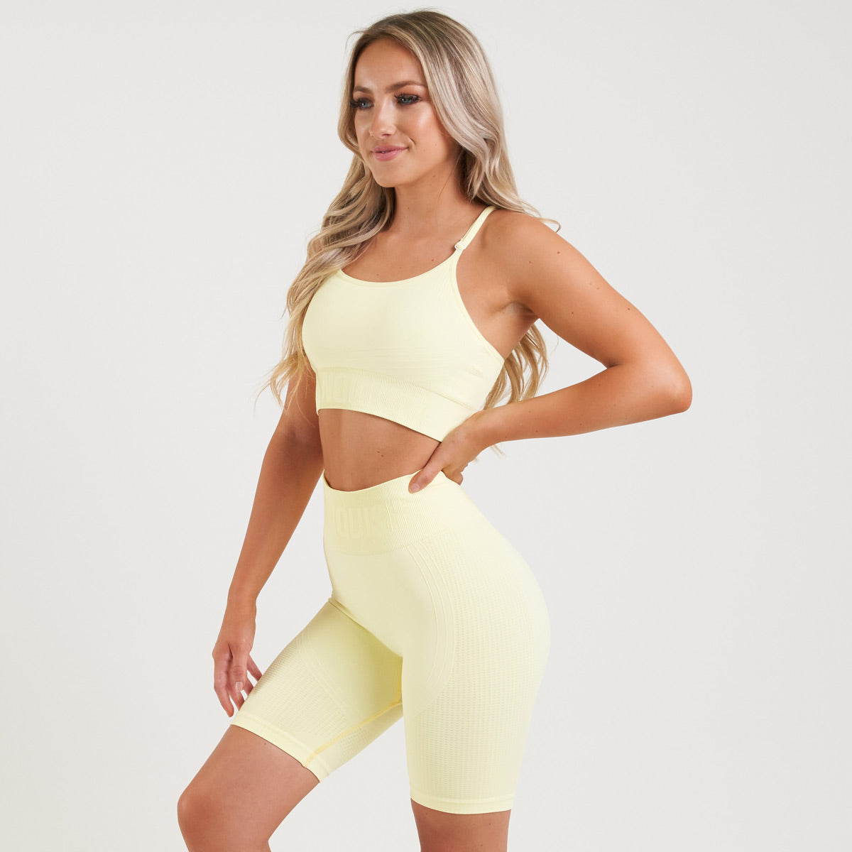 Vanquish Bright Soft Lemon Seamless Sports Bra