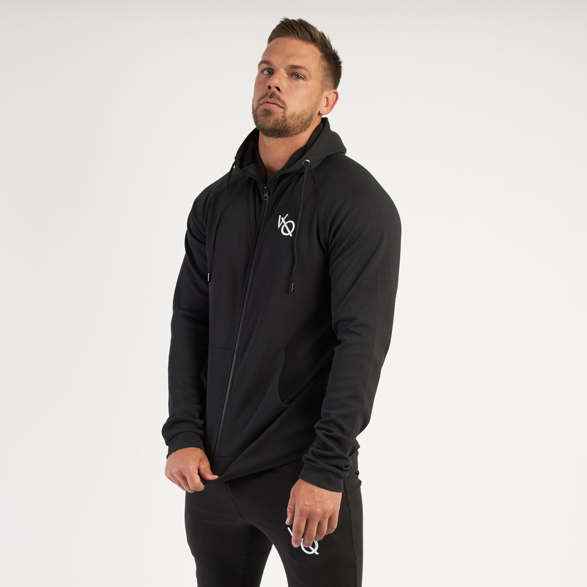 Vanquish Essential Black Full Zip Hoodie