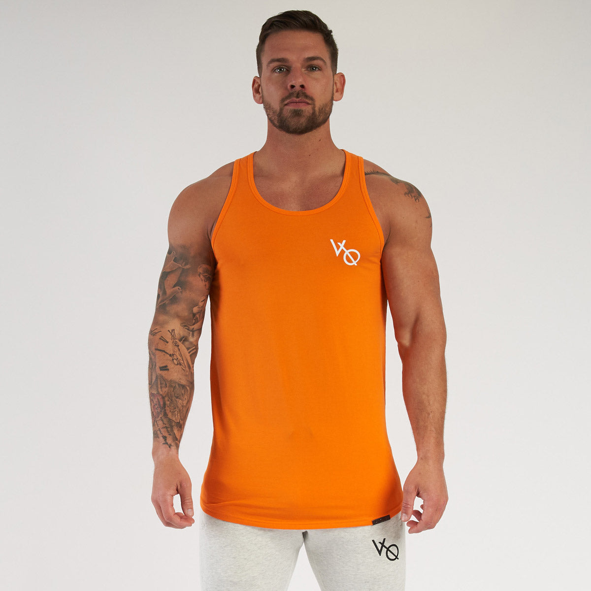 Vanquish Essential SP Orange Longline Tank