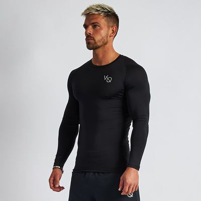 Vanquish Intensity Men's Black Long Sleeved Compression T Shirt
