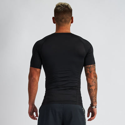 Vanquish Intensity Men's Black Short Sleeved Compression T Shirt