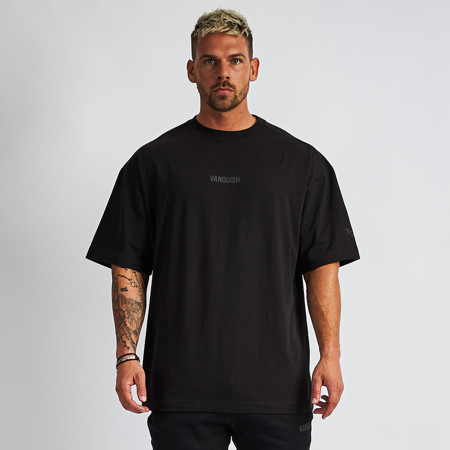 Vanquish Men's Black Friday Reflective Oversized T Shirt
