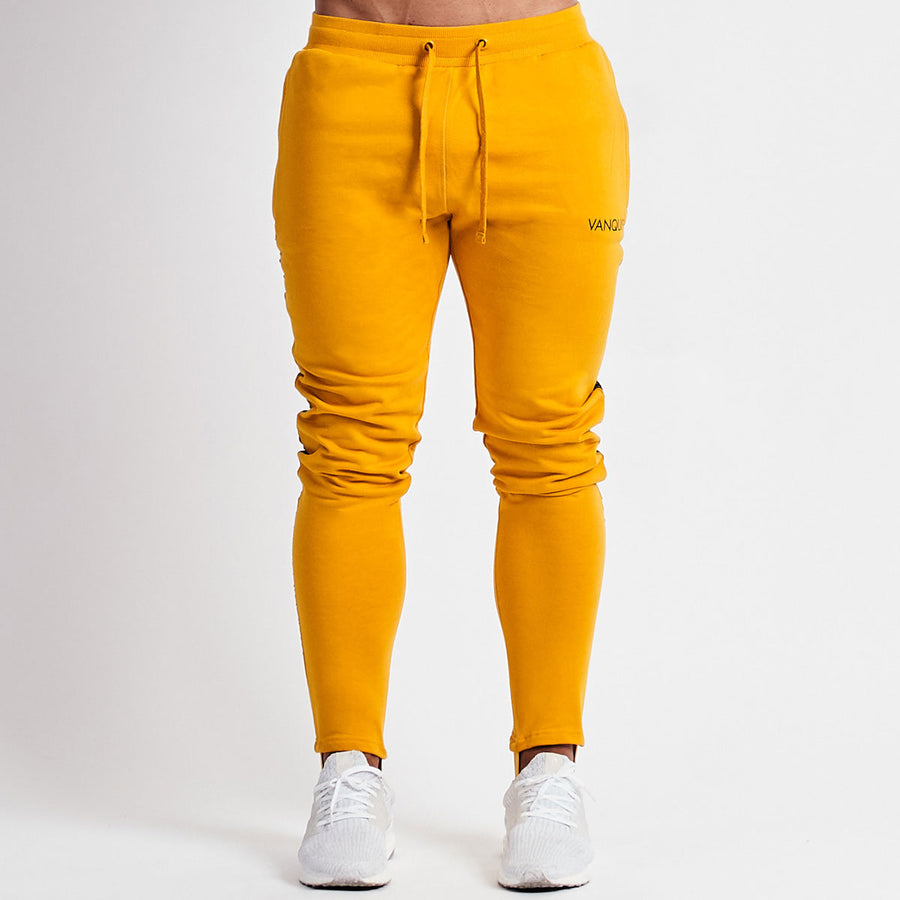 Vanquish Minimal Yellow Tapered Sweatpants