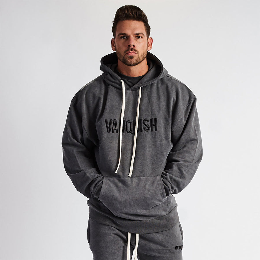 Vanquish Warm Up Grey Oversized Hoodie