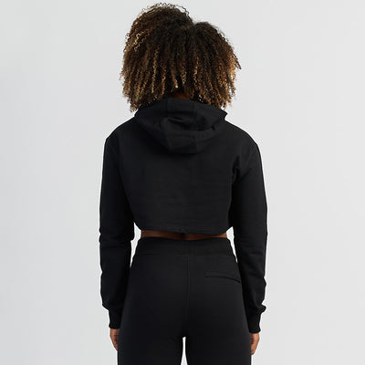 Vanquish Women's Black Friday Reflective Cropped Hoodie