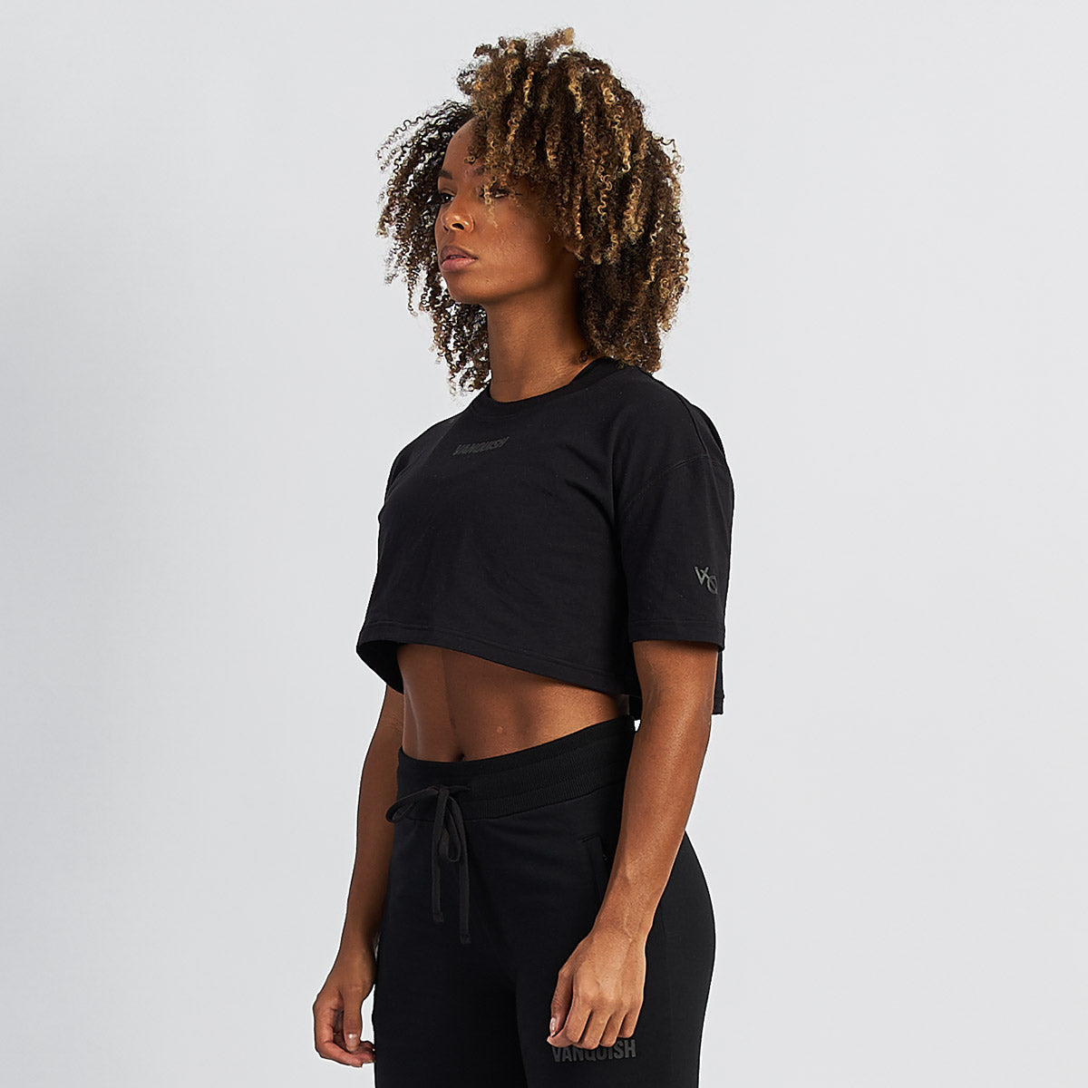Vanquish Women's Black Friday Reflective Cropped T Shirt